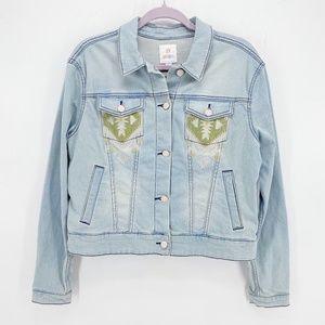 Lularoe Embroidered Harvey Denim Jacket